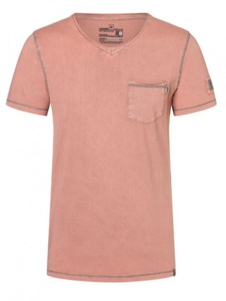 TIMEZONE Herren Vintage T-Shirt, Grey Red