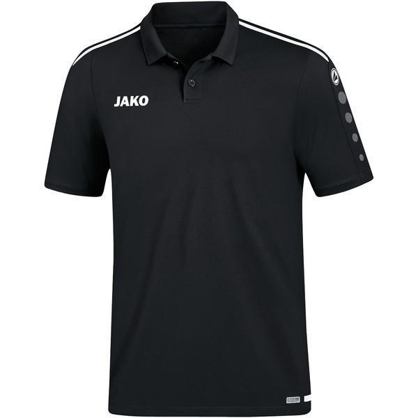 JAKO POLO STRIKER 2.0 Herren Polo-Shirt, Schwarz/Weiß