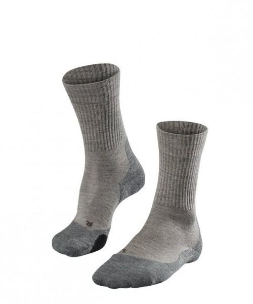 Falke TK2 WOOL Damen Trekking Socken, Kitt-Mouline