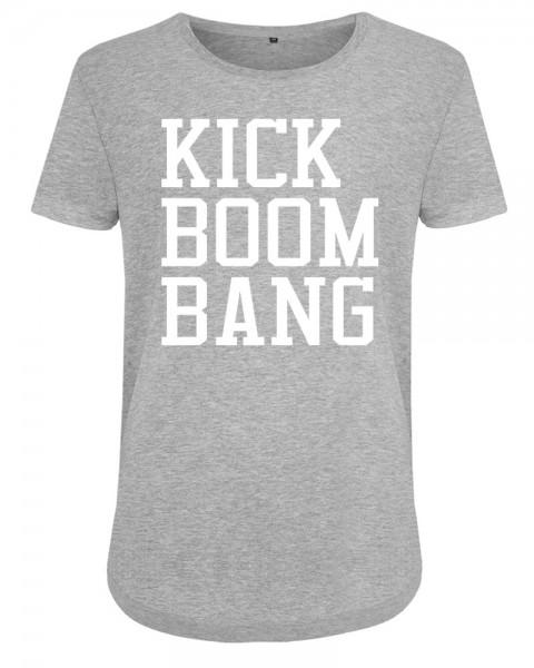 zopfball FSSBLL KICK-BOOM-BANG-SHIRT WOMEN`S CUT Damen T-Shirt, Light Grey