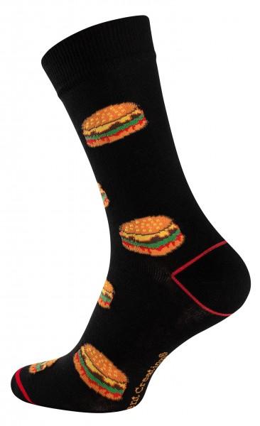 2147 Vincent Creation® FAST FOOD Unisex Casual Socken (Gr. 41-45), Burger