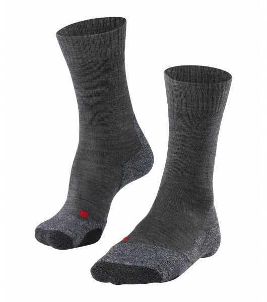 Falke TK2 Herren Trekking Socken, Asphalt-Melange