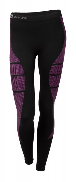 5091 Stark Soul SEAMLESS Damen Thermo-Funktionsunterhose, Schwarz/Pink