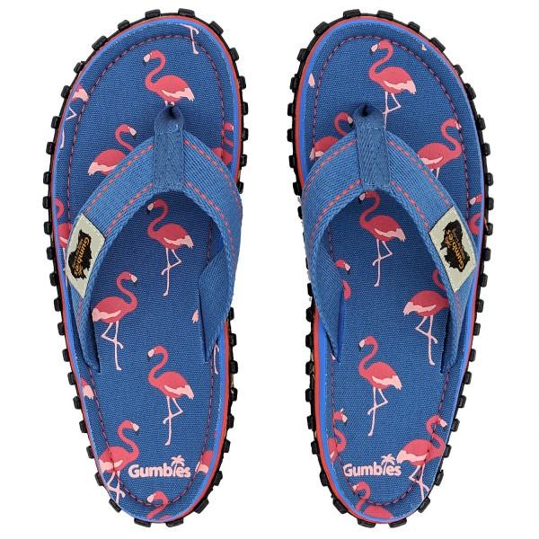 Gumbies FLAMINGO Damen Zehentrenner, Blau/Pink