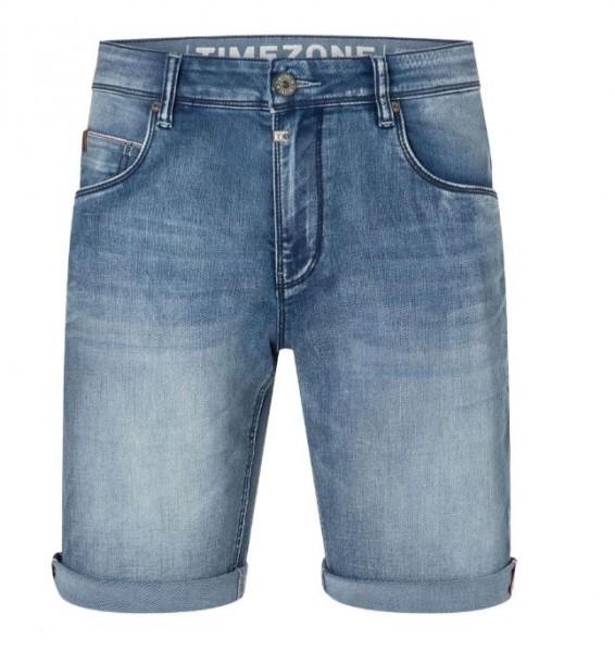 TIMEZONE SLIM SCOTTY Herren Jeans-Shorts, Antique Blue Wash