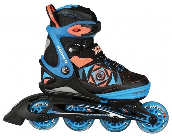 stuf XOOM 2 BOY JR. Jungen Inline-Skates, Black/Blue/Orange