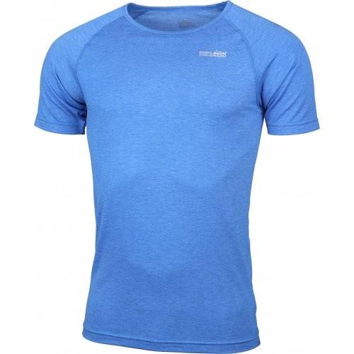 High Colorado BERGEN Herren Kurzarm Funktions-Unterhemd, Blau Melange