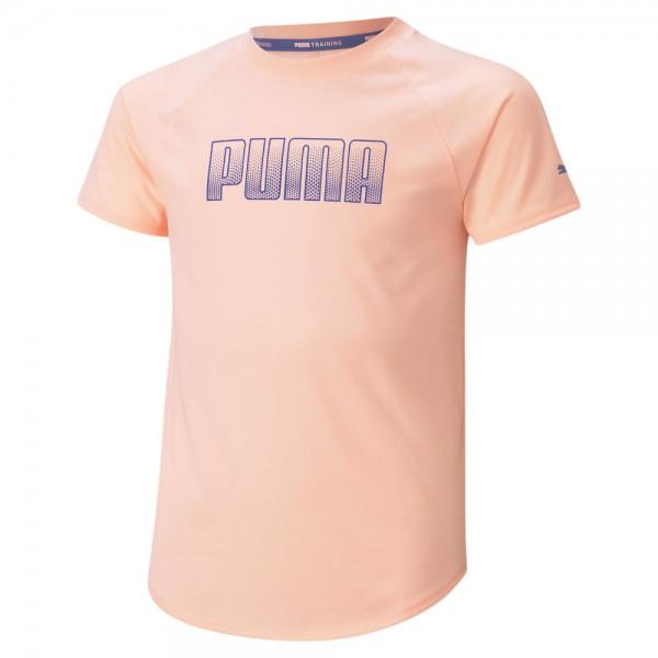 Puma RUNTRAIN Mädchen T-Shirt, Elektro Peach