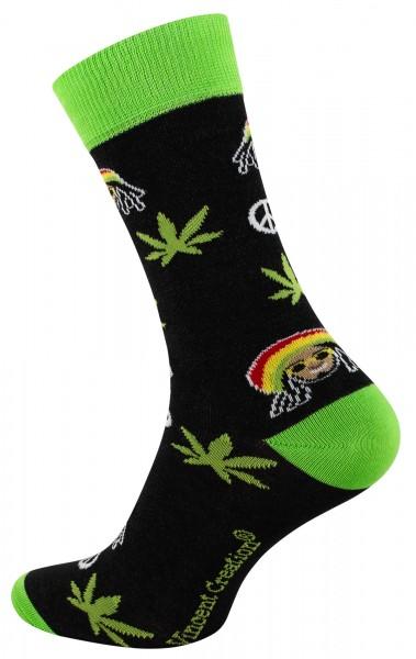 2163 Vincent Creation® WEED Unisex Casual Socken, Rasta Man