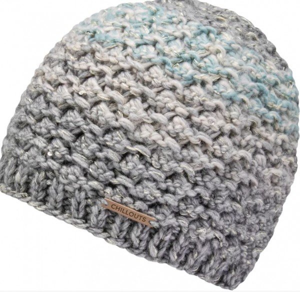 Chillouts NIKOLA Damen Mütze, Grey/Blue