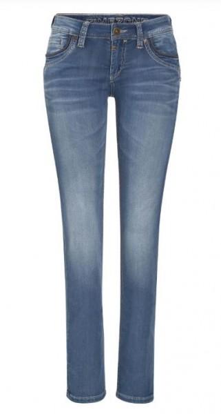 TIMEZONE TAHILA Damen Slim Jeans (30er Länge), Blue Denim Wash