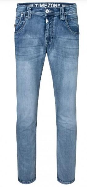 TIMEZONE ELIAZ Herren Regular Jeans (34er Länge), Aqua Blue Wash