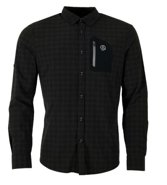 Ternua ATHY Herren Langarm-Hemd, Black
