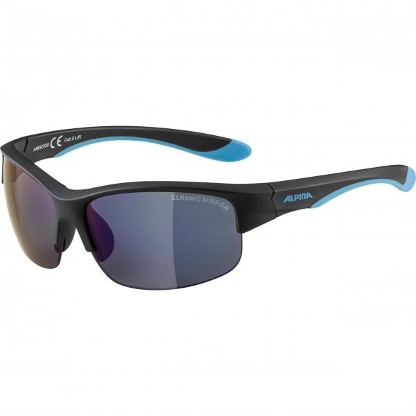 Alpina FLEXXY YOUTH HR Kinder Sportbrille, Black Blue/Matt