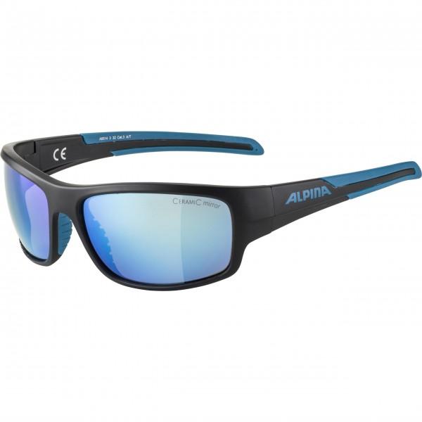 Alpina TESTIDO Unisex Sportbrille, Black-Blue/Matt
