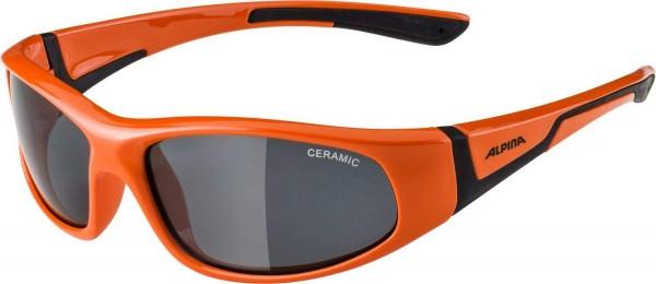 Alpina FLEXXY JUNIOR Sonnenbrille, Orange/Black