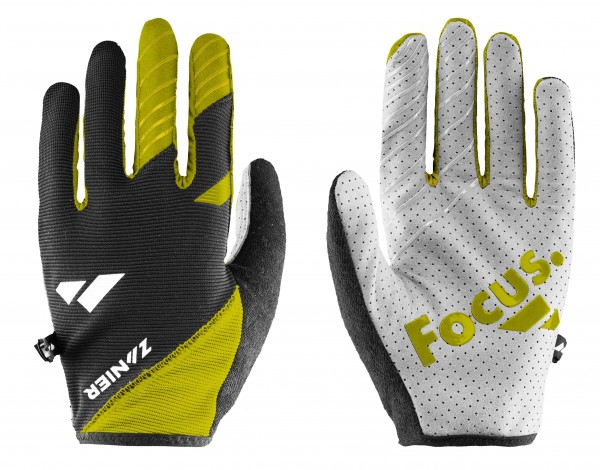 Zanier SHREDDER Unisex Mountainbike Handschuhe, Lime/Schwarz