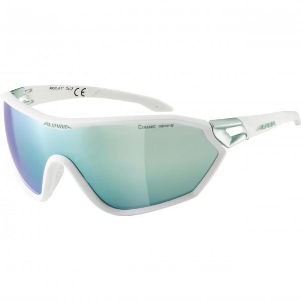 Alpina S-WAY CM+ Unisex Sportbrille, White Matt-Pistachio