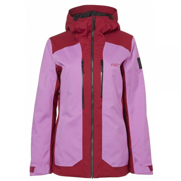 North Bend FERNIE SKI JACKET Damen Ski-Jacke, Pink Violets