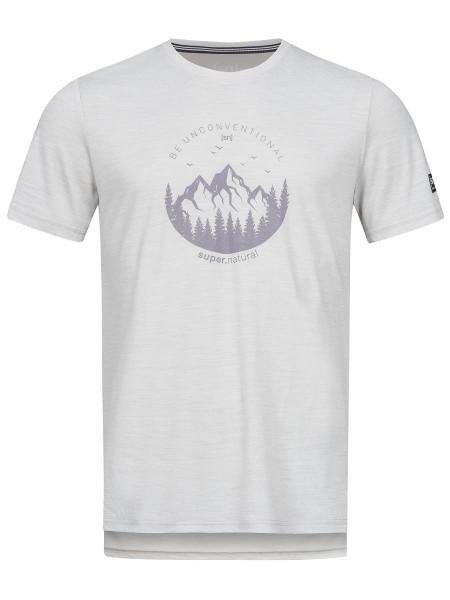 super.natural GRAPHIC TEE Herren T-Shirt, Light Grey Melange/Silver Grey Be Unconvention