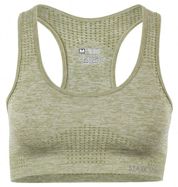 Stark Soul REFLECT Damen Sport-BH (herausnehmbare Cups, Medium Support), Grün-Melange