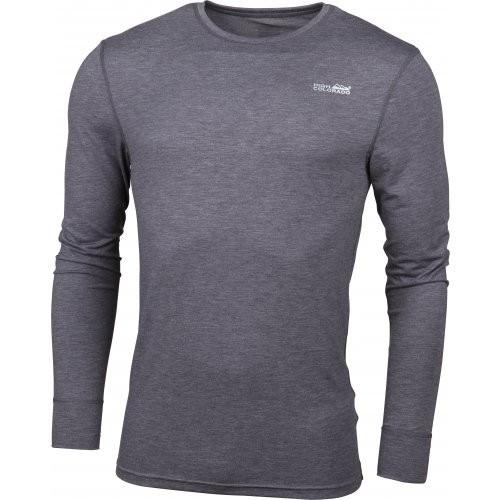 High Colorado BERGEN Herren Langarm Funktions-Unterhemd, Anthrazit Melange