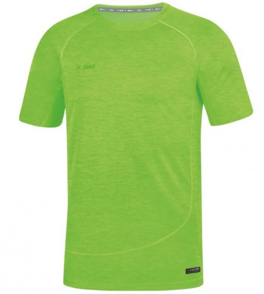 JAKO ACTIVE Basics Herren Funktionsshirt, Neongrün Meliert
