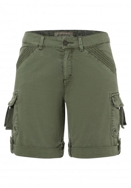 TIMEZONE LOOSE KATINKA TZ Damen Cargo-Shorts, Rainforest Green