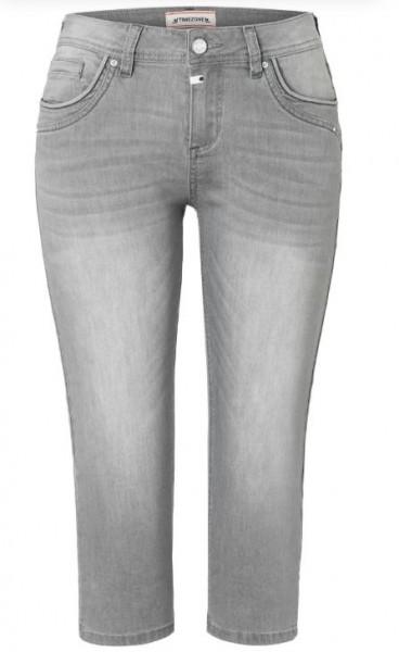 TIMEZONE TALI Damen Slim Capri Jeans, Flint Grey Wash