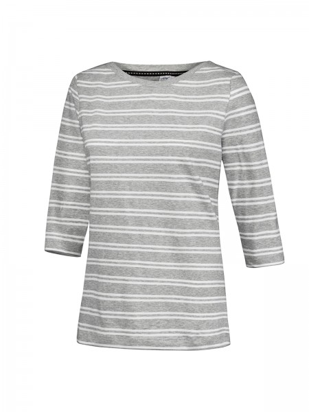 JOY sportswear CAROLIN Damen 3/4 Arm-Shirt, Carbon Melange Stripes