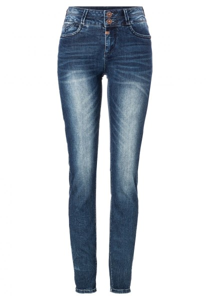 TIMEZONE SLIM ENYA WOMANSHAPE Damen Superstretch-Jeans (30er Länge), Blue Patriot Wash