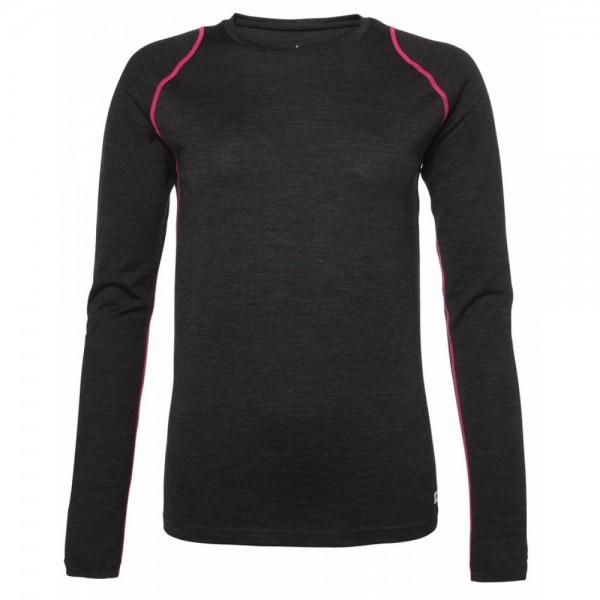 North Bend EXOWOOL BASELAYER Damen Long Sleeve, Black