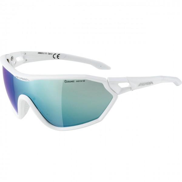 Alpina S-WAY CM+ Unisex Sportbrille, White Matt