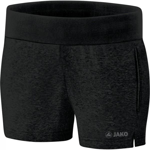 JAKO SWEAT BASIC Damen Sport-Shorts, Schwarz