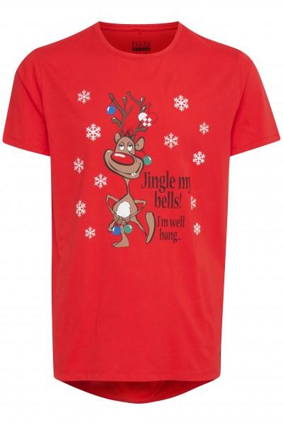 Blend CHRISTMAS Herren T-Shirt, Mars Red