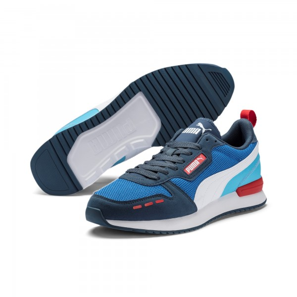 Puma R78 Unisex Runner Sneaker, Palace Blue/Dark Denim/White