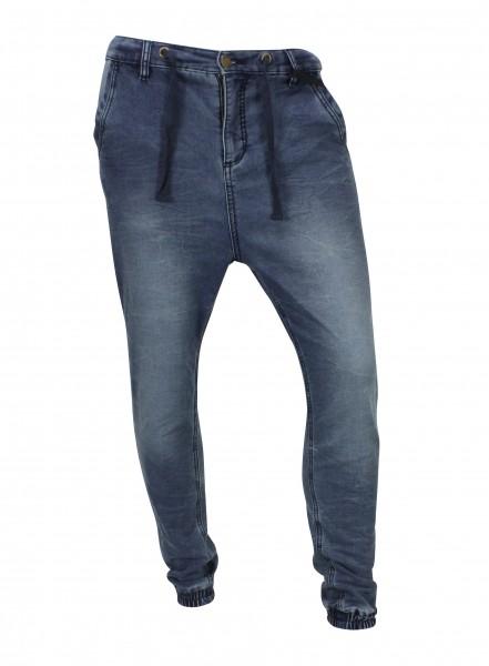 Sky Rebel PHOENIX CUFF PANT Herren Jogg-Jeans, Blue Denim