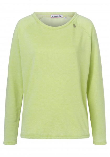 TIMEZONE RAGLAN Damen Sweatshirt, Shadow Lime