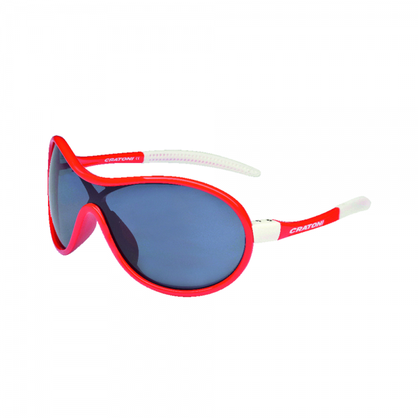 Cratoni BUBBLE Unisex Sportbrille, Red/White Glossy
