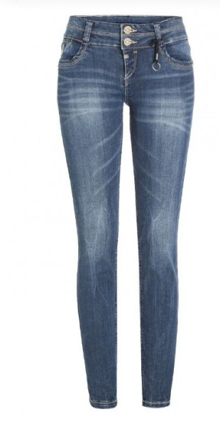TIMEZONE ENYA Damen Slim Jeans (30er Länge), Blue Royal Wash