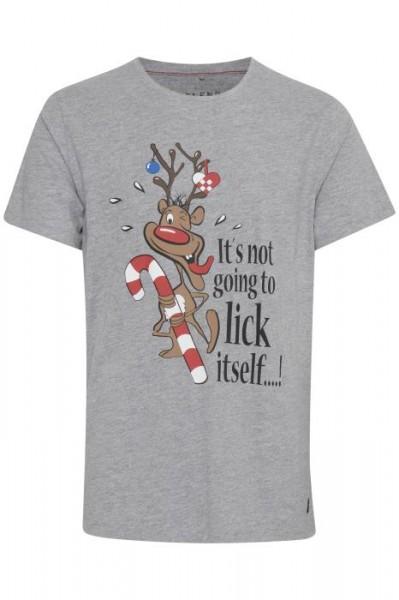 Blend CHRISTMAS Herren T-Shirt, Stone Mix