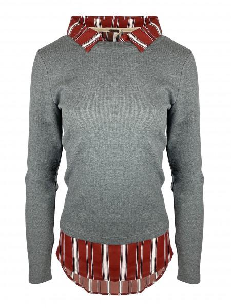 aiki Keylook FOR THE SAKE Damen Langarmshirt, Anthracite