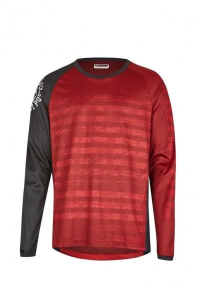 Protective LIVE&LOUD Herren Outdoor und Bike Langarmshirt, Dark Red