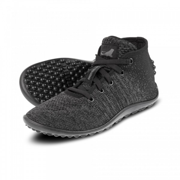 Leguano GO Unisex Barfußschuh/Sneaker, Mixed Black