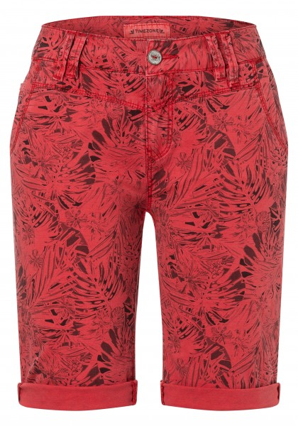 TIMEZONE SLIM NALI TZ Damen Shorts, Red Leaves