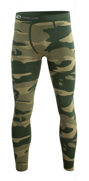 1024 Stark Soul SEAMLESS Herren Thermo-Funktionsunterhose, Camouflage