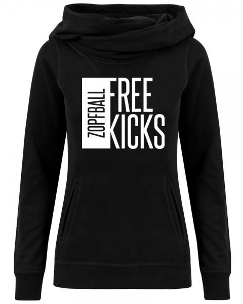 zopfball FSSBLL FREE KICKS HIGH NECK WOMEN`S CUT Damen Hoodie
