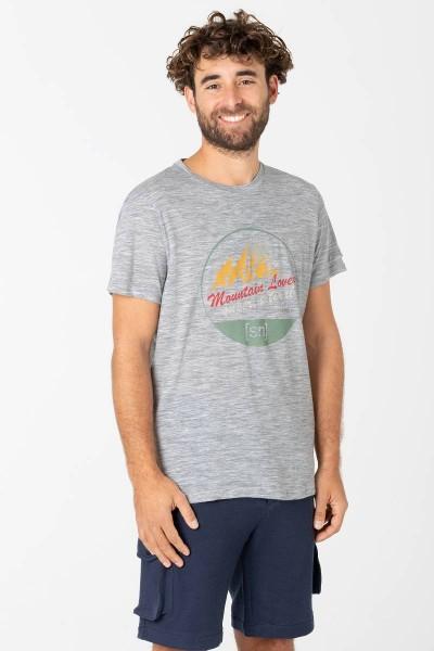 super.natural M SALZBURG Herren T-Shirt, Ash Melange/Untersberg