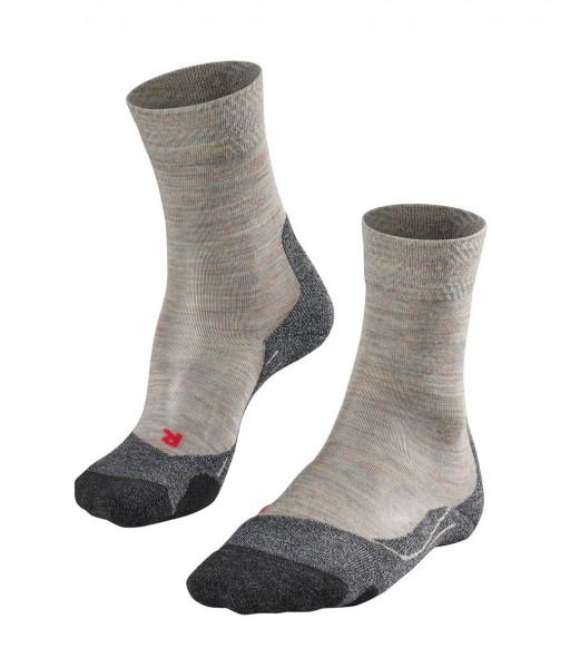 Falke TK2 MELANGE Damen Trekking Socken, Moon Mist
