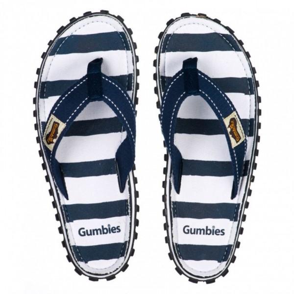 Gumbies DECK CHAIR Unisex Zehentrenner/Strandsandale, Blau/Weiss